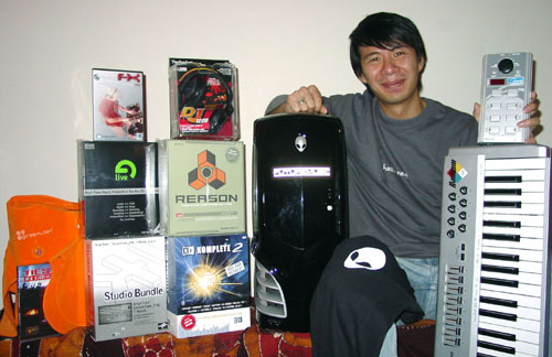 Hac Le With some of his prizes
