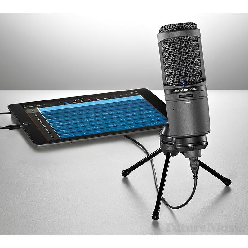 Audio Technica AT2020 USBi ipad