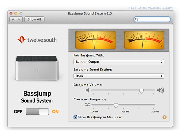 The BassJump software interface has just been upgraded to version 2.0