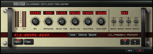 Classik Studio Reverb User Interface