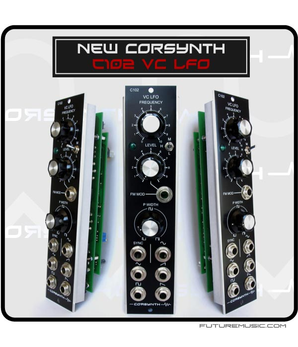 Corsynth Release C102 VC-LFO – Voltage Controlled LFO For Analog Modulars