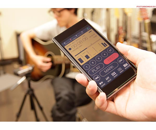 Tascam DR-44WL Transport Control via wi-fi smartphone app