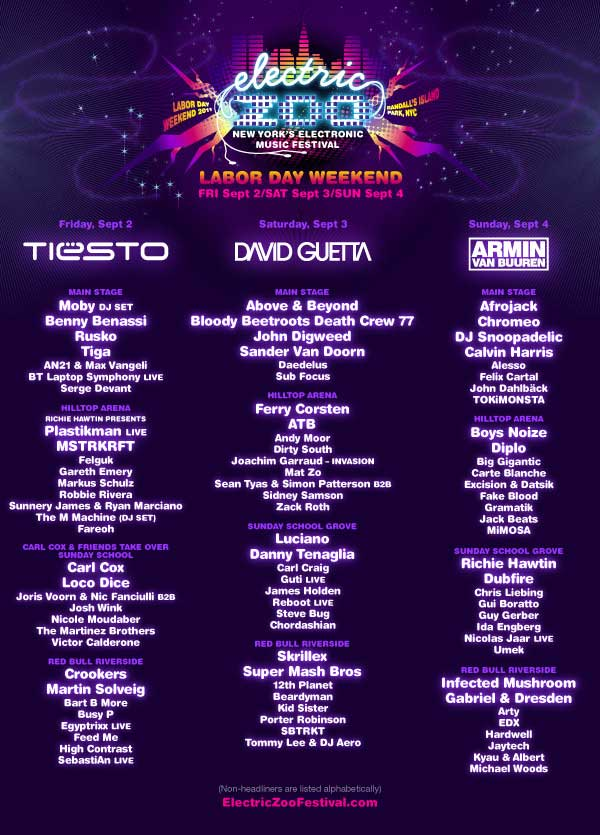 2011.09.04 - MICHAEL WOODS @ ELECTRIC ZOO FESTIVAL 2011 (NEW YORK CITY, USA) ElectricZoo2011Lineup
