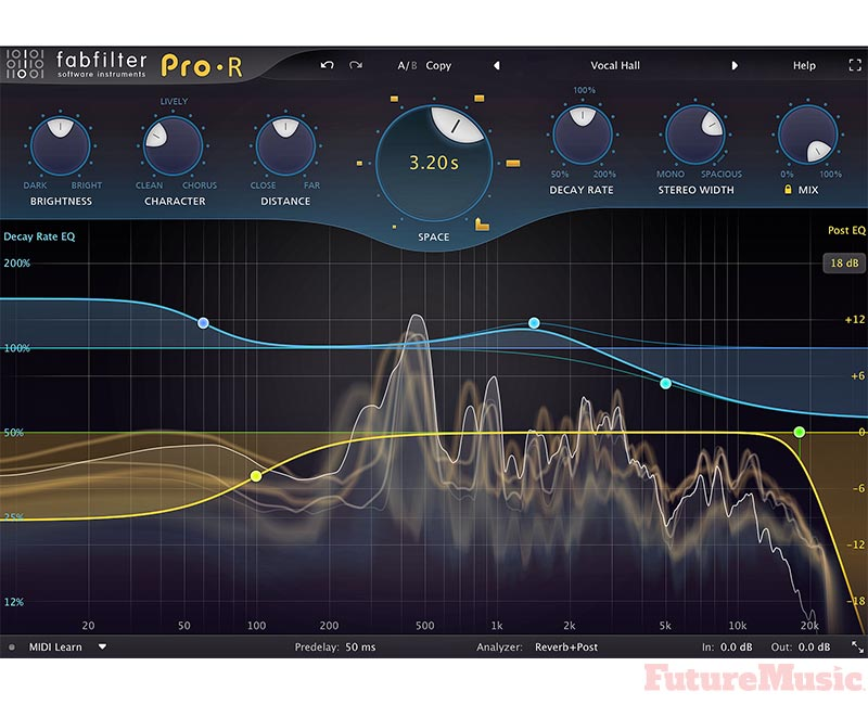 FabFilter Pro-R algorithmic reverb plug-in