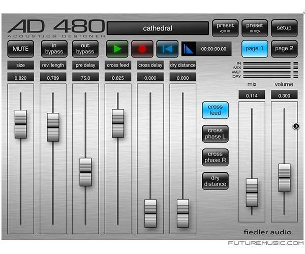 Fiedler Audio-AD-480 reverb app