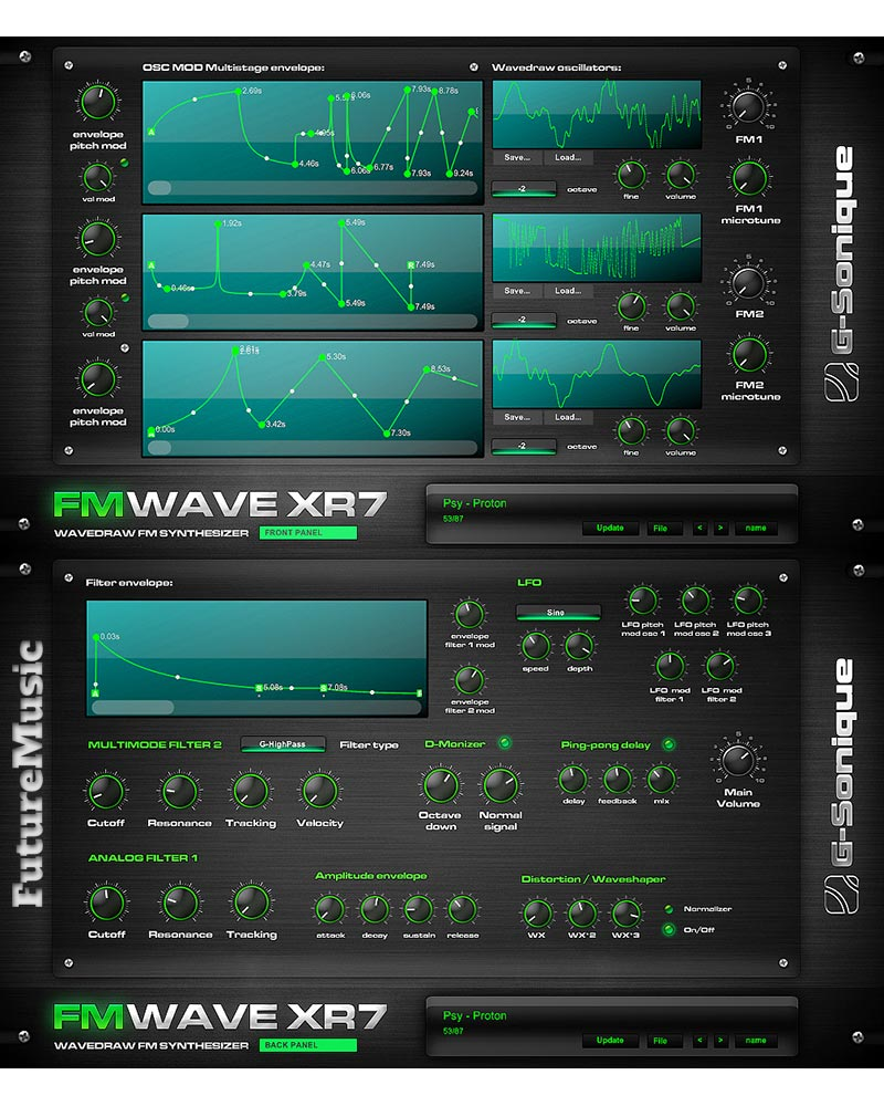 G-Sonique FM WAVE XR7 futuremusic