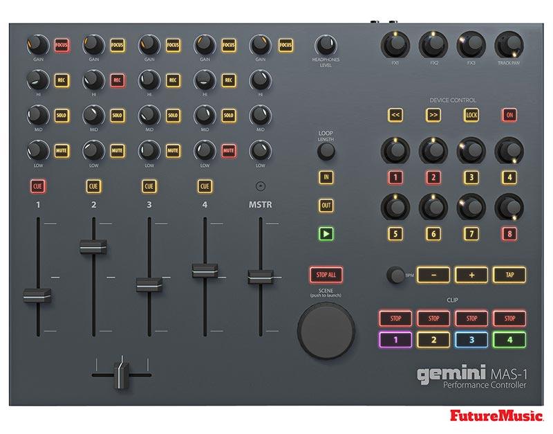 gemini mas1 ableton live controller future music