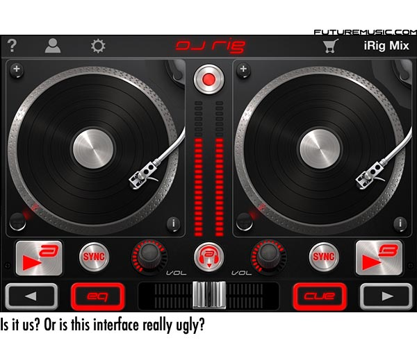 IK Multimedia DJ Rig's Ugly Interface