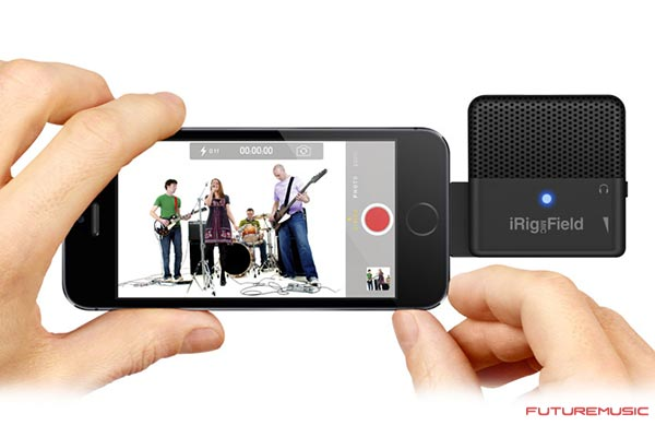 IK-iRig-Mic-Field with iPhone