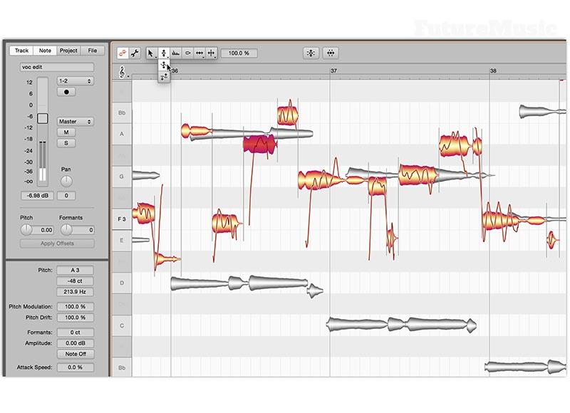 Melodyne 4 Studio pitch correction