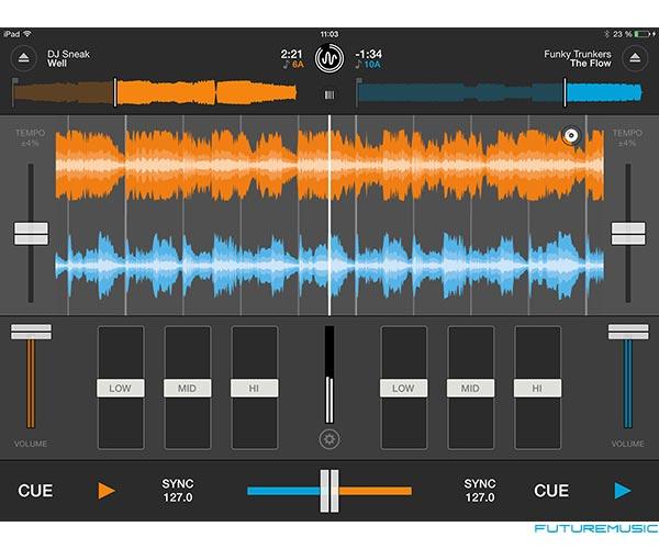 Mixvibes-Cross-DJ-2-iPad Waveform View