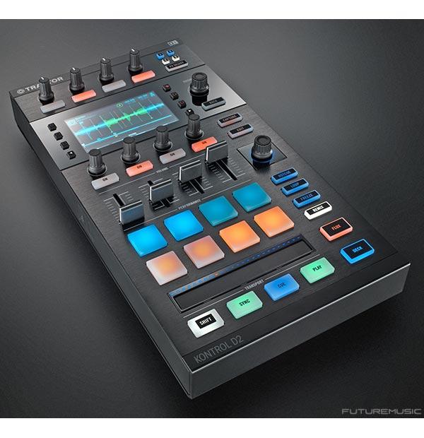 Top of the Native Instruments Traktor Kontrol D2 DJ Controller