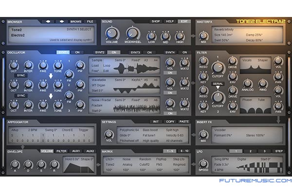 tone2 electra2 synth