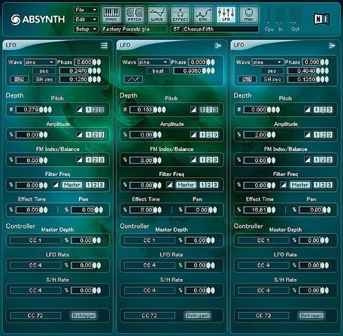 Absynth 3 LFO