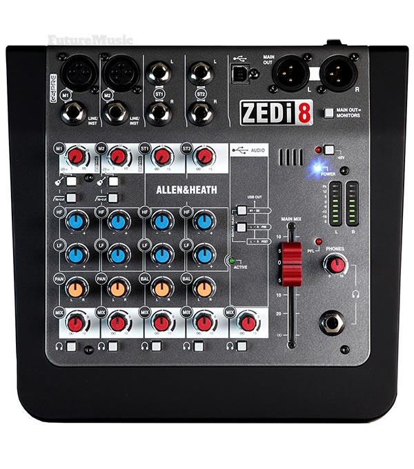 allen-heath zedi-8 mini mixers
