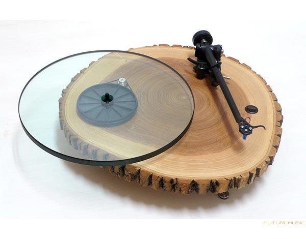 audiowood barky wood turntable