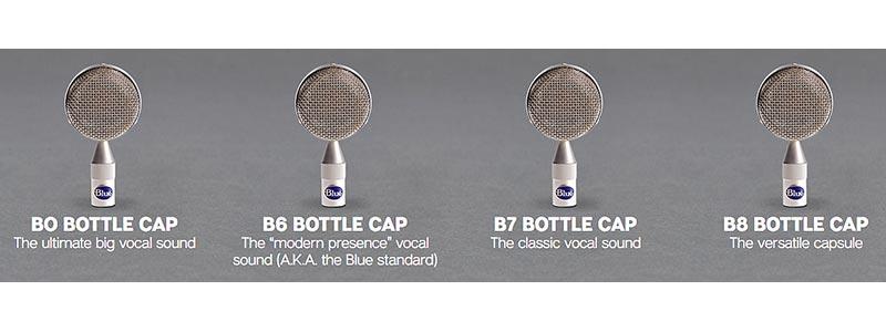 blue microphone bottle caps