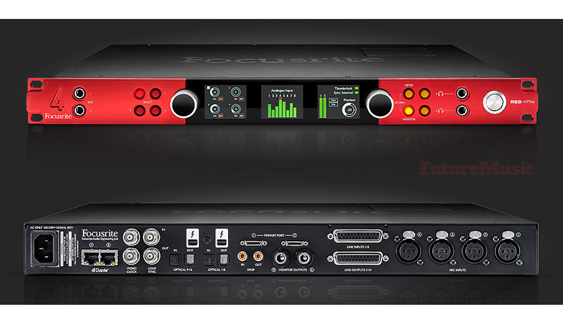 focusrite-red-4pre computer audio interface