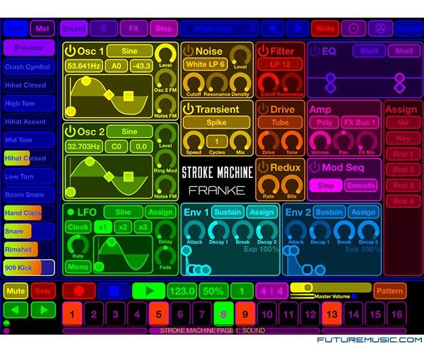 Franke Music Stroke app