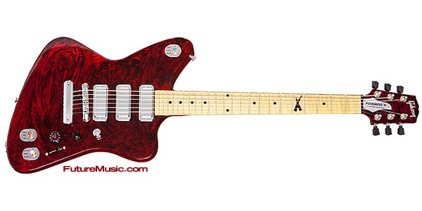 gibson firebird x digital electric guitar limited edition red