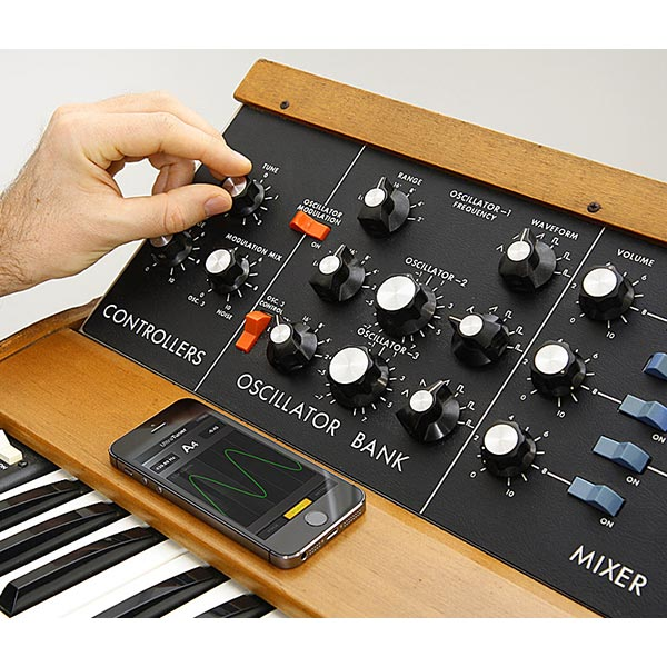 IK Multimedia's UltraTuner can tune a vintage synth like the Moog Model D