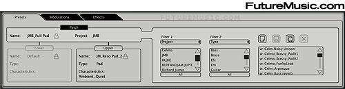 Arturia JP-8V's Browser