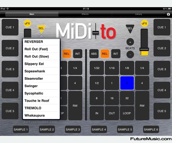 MiDI-to Serato iPad Controller