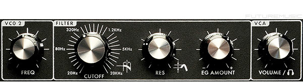 Moog Minitaur filter section