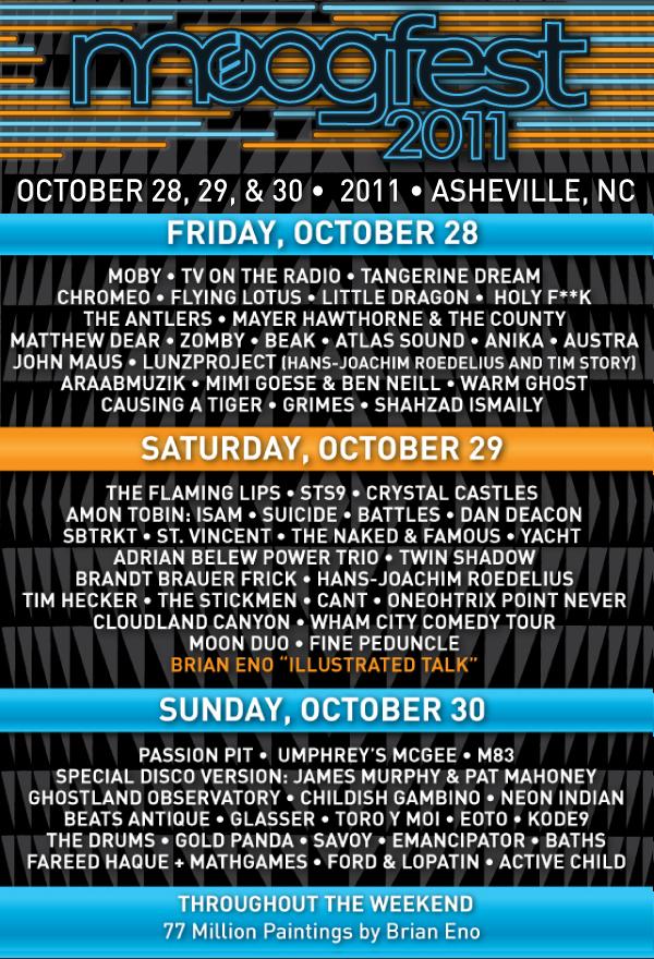 moogfest 2011 lineup