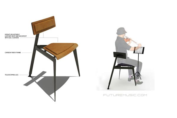 New High Tech Concept Chair Design For Musicians Debuts ...