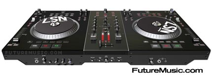Numark showcases ns7 dj control system futuremusic the for Dj controller motorized platters