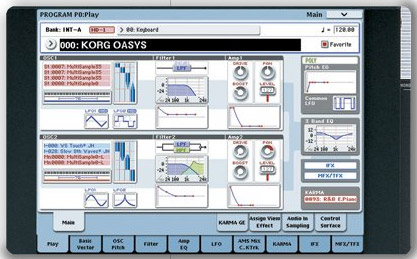 Korg Oasys Touch Screen
