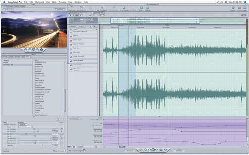 Soundtrack Pro Waveform Editor