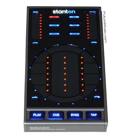 Front of Stanton SCS.3d DJ controller