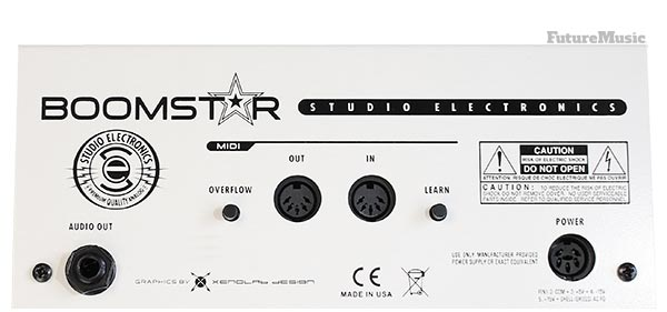 Studio Electronics Boomstar SEM Review - Rear Panel