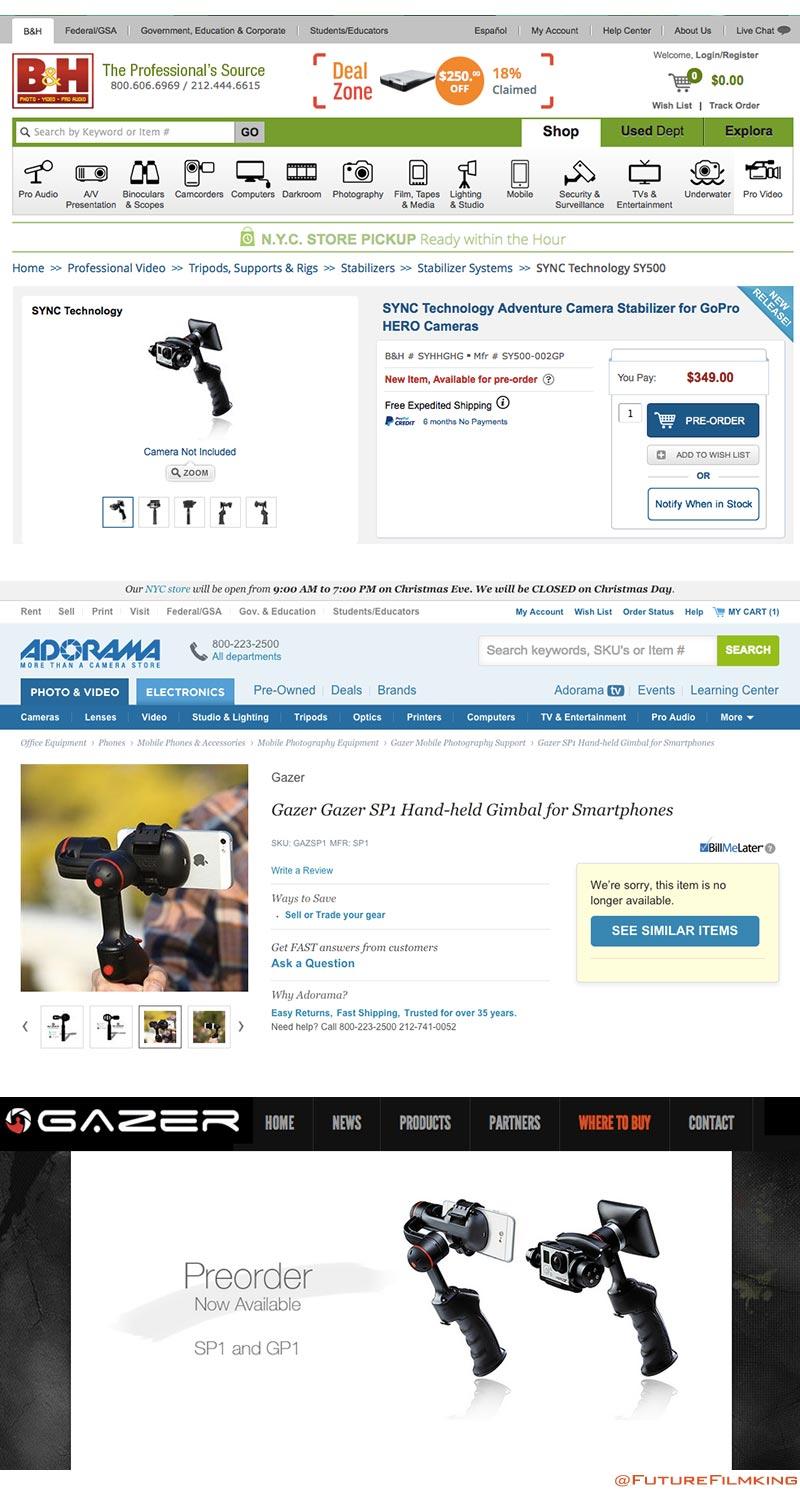 Sync vs. Gazer GoPro Stabilizers