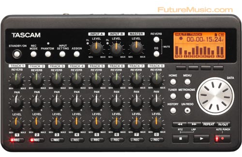 Tascam DP-008 Review - Top View