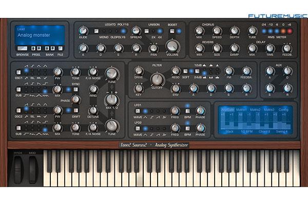 tone2 Saurus2 virtual analog synth