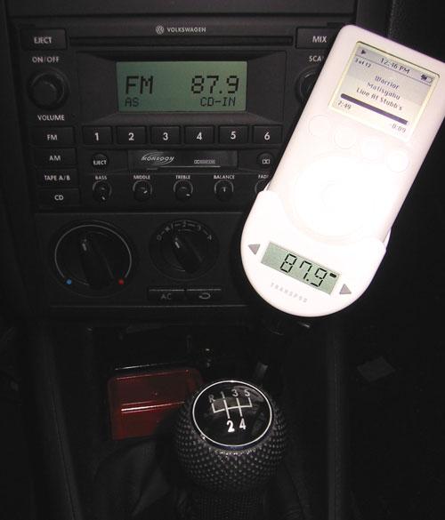 DLO TransPod FM Transmitter in the Volkswagen Jetta