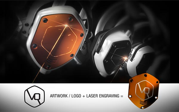 V-Moda's XS Headphones can be customized with your logo