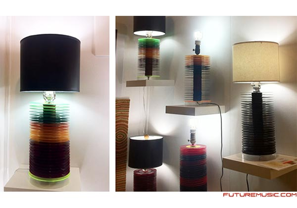 Orlando Dominguez's Vinyl Record Lamps