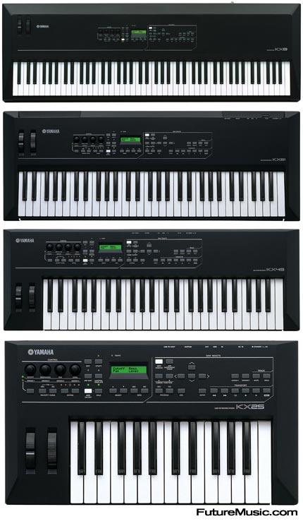 Yamaha announces kx25 kx49 kx61 and kx8 usb midi for Yamaha midi controller keyboard